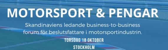Inbjudan till Motorsport & Pengar torsdag 18 oktober